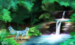Guest at the waterfall by Tavralsfina
