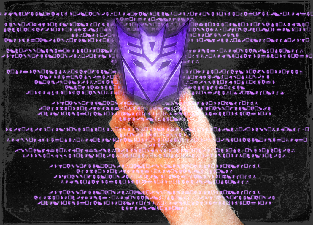 Decepticon Purple background by clumbsyangel