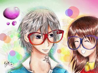 Zero and Yuki in glasses by xynpocari