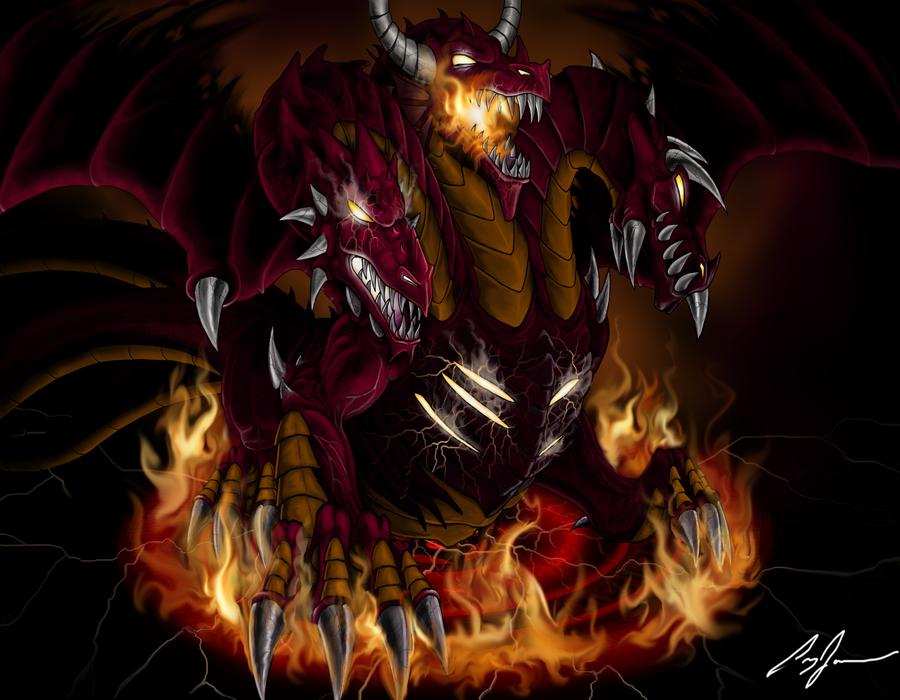 The Magmos Dragon by Xzeromus