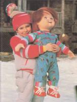 Andy Barclay and Chucky by MothraLeo