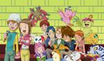 The Chosen Children and their Digimon by MothraLeo