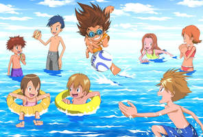 Hot Fun In The Summertime With The Chosen Children by MothraLeo
