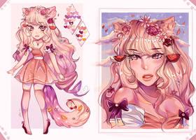 Auction 02 Summer fruit themed girl (OPEN) by KawaiiCaniball