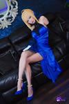 Saber blue dress cosplay by Hidori Rose