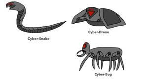Cyber-Drone, Bug, Snake