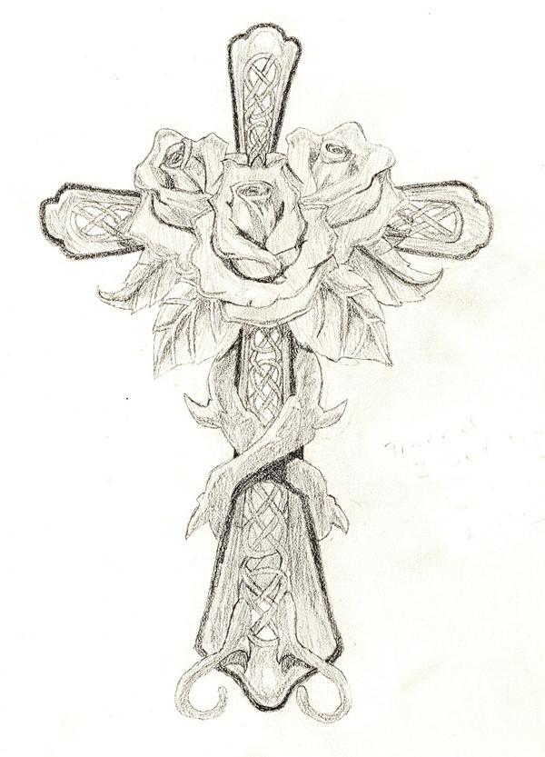 Rose and Cross by DarkAngelPheonix