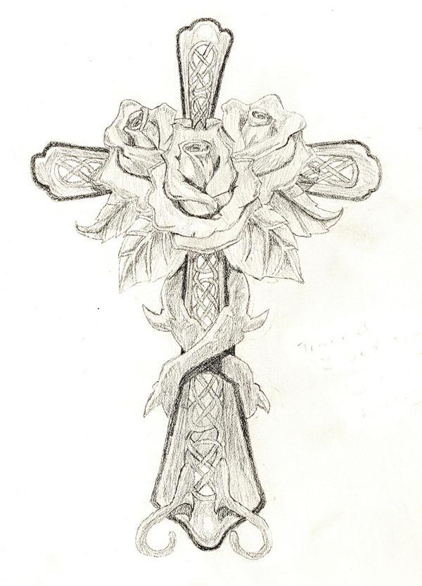 Rose and Cross by DarkAngelPheonix