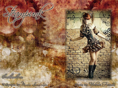 Wallpaper - Steampunk by VictoriaFrancesClub