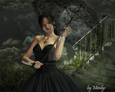 Mademoiselle en noir by VictoriaFrancesClub