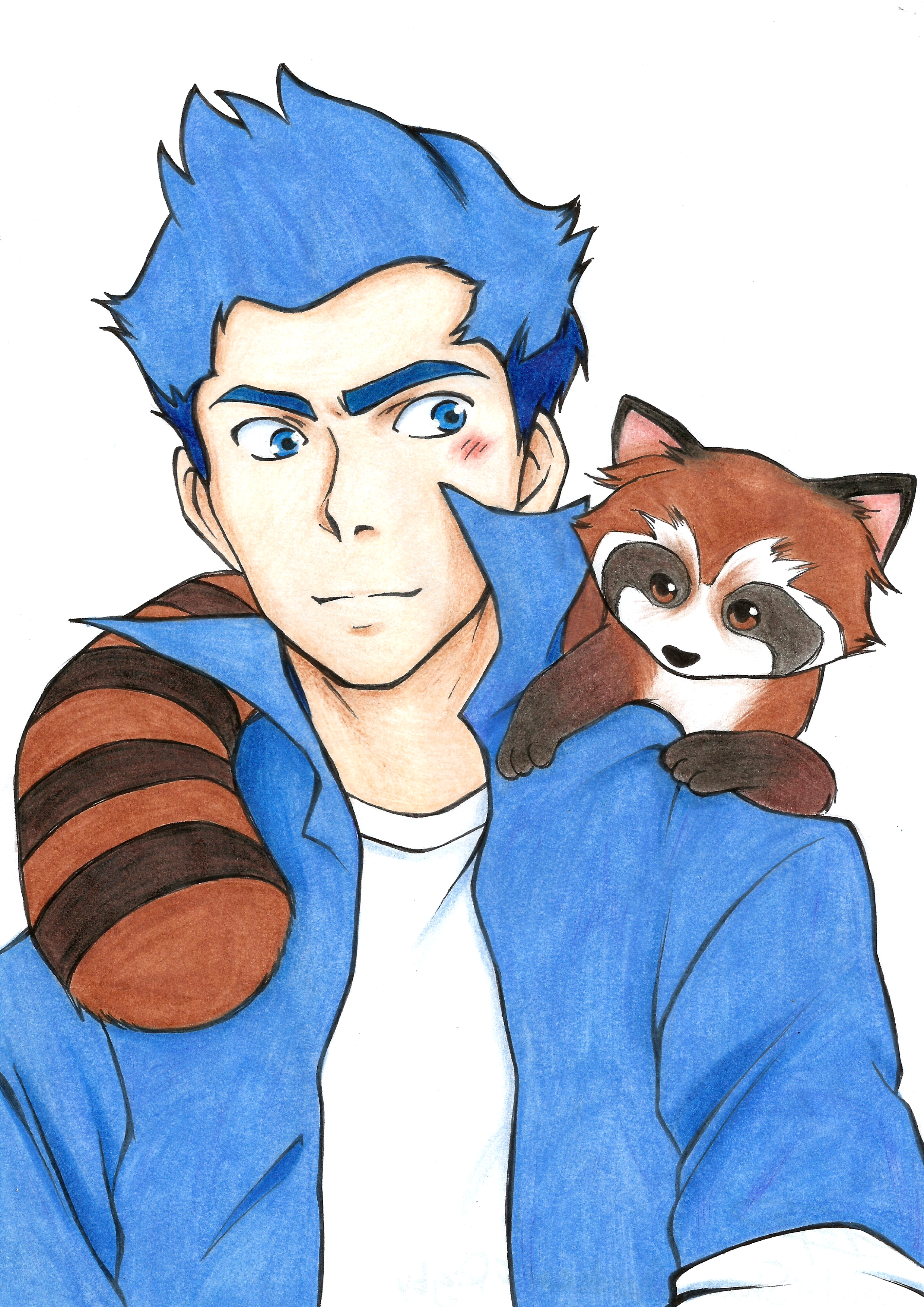 Mordecai and Rigby by flodoyle on DeviantArt