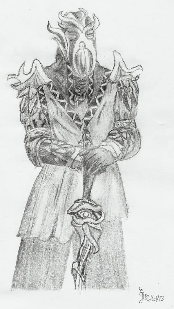 Dragonborn - Miraak by altairattorney