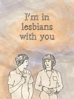 scott pilgrim vs the lesbians by danlikestrees