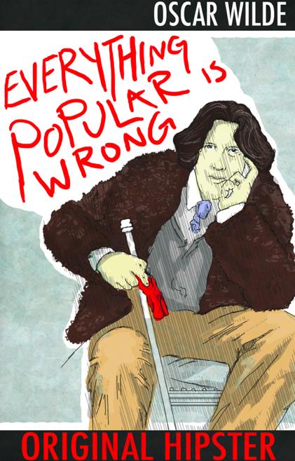 Oscar Wilde Original Hipster by danlikestrees