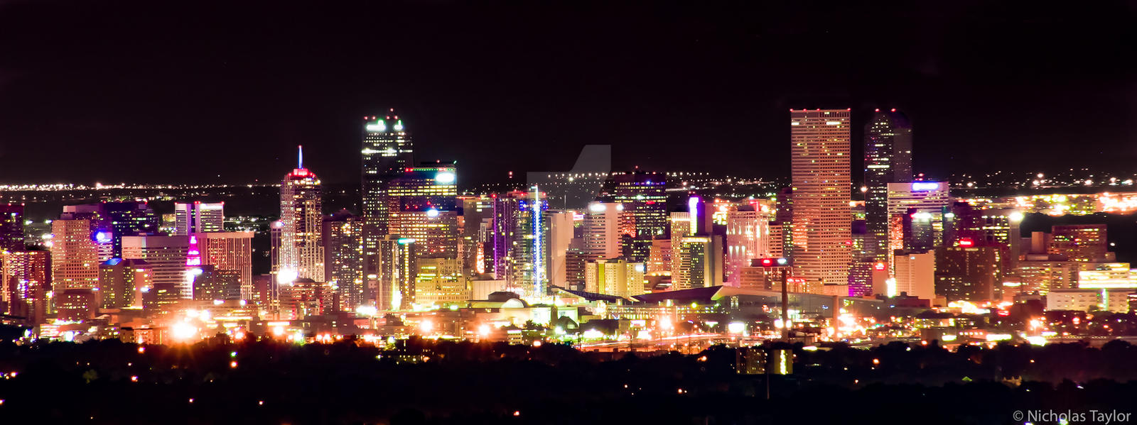 Denver Skyline at Night by ntaylor1981