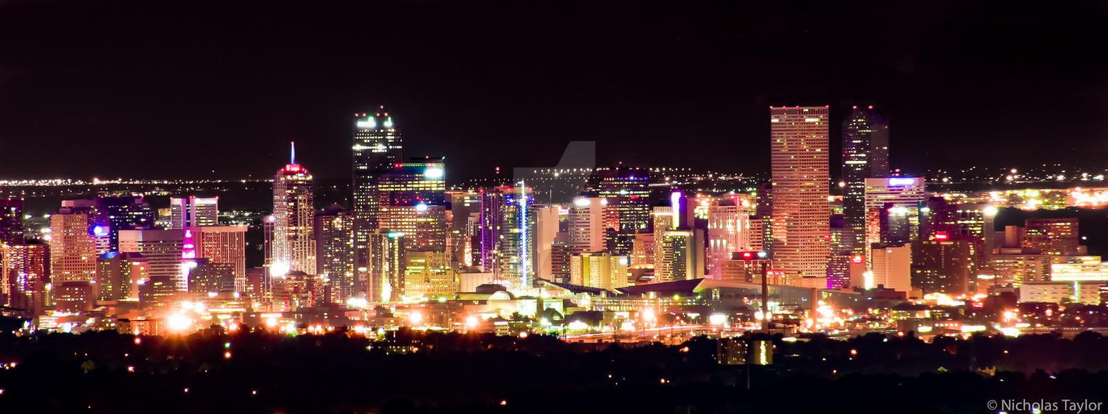 Denver Skyline at Night by ntaylor1981