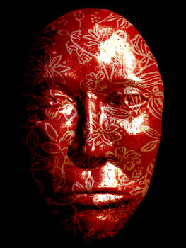 Shiny Flowery Red Mask