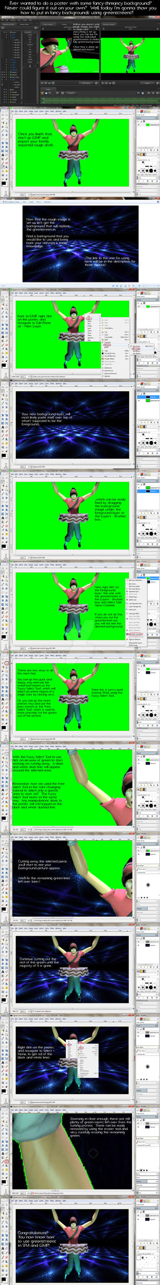 How To Use Greenscreens in SFM and GIMP by BitchyRedSniper
