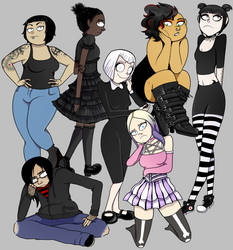 goth girls by cyclopsette