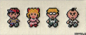 EarthBound Cross-stitch