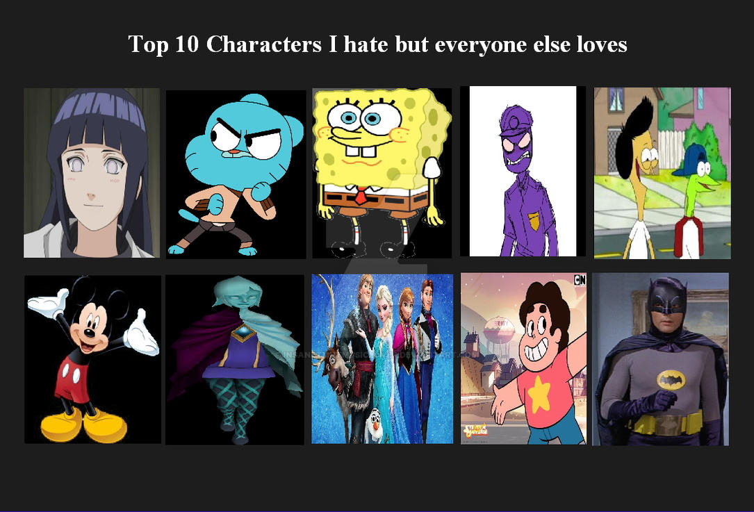 Anime Characters Everyone Hates : Characters i hate but everyone else loves by