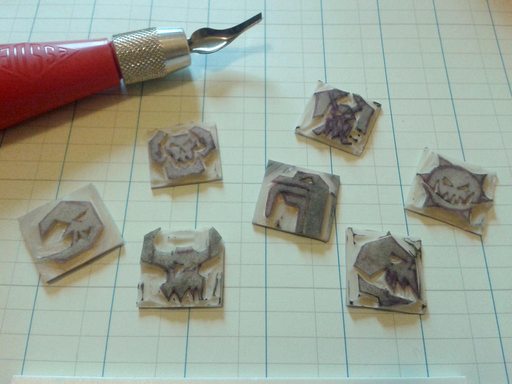 Ork Clan Rubber Stamps by jenniology