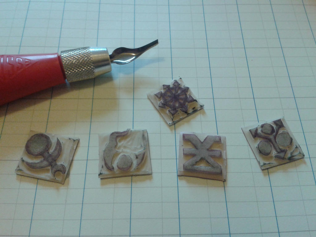 Chaos Space Marine Rubber Stamps by jenniology