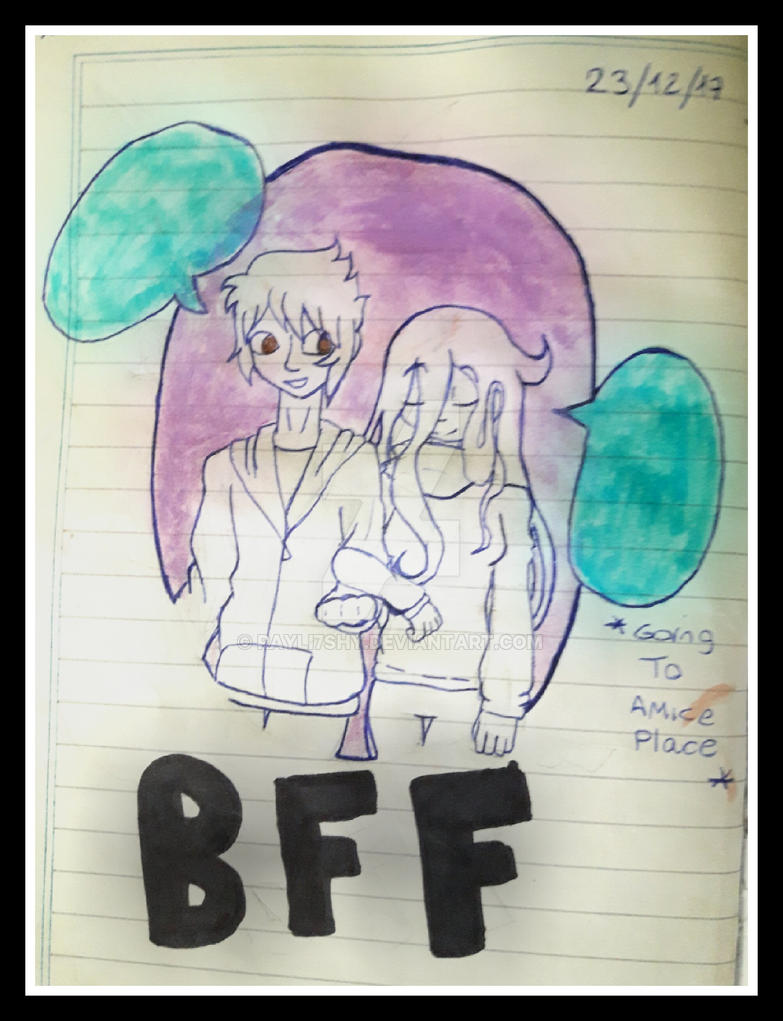 Sketch book 3 best friends by rayli7shy