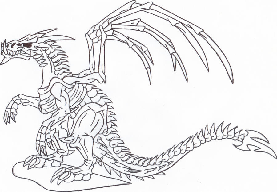Headed T Rex Coloring Page