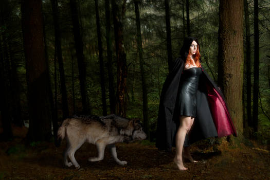 RED Riding Hood with Her Wolf