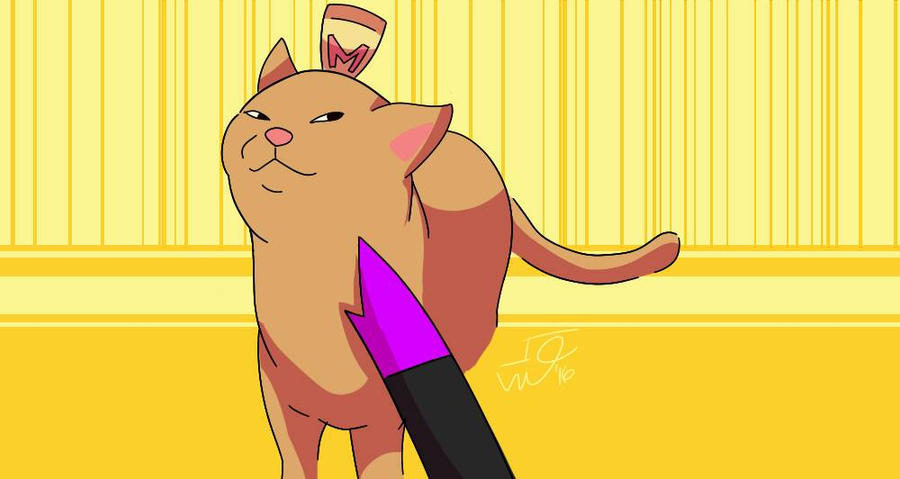 Smugg Ass Cat at Knifepoint  by cristian1200n