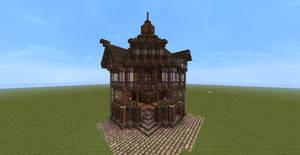 Minecraft Old English Corner House/Shop
