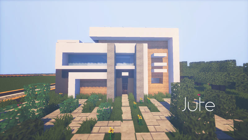 Jute complex minecraft modern house by lil lintu on for Modern house minecraft pe 0 12 1