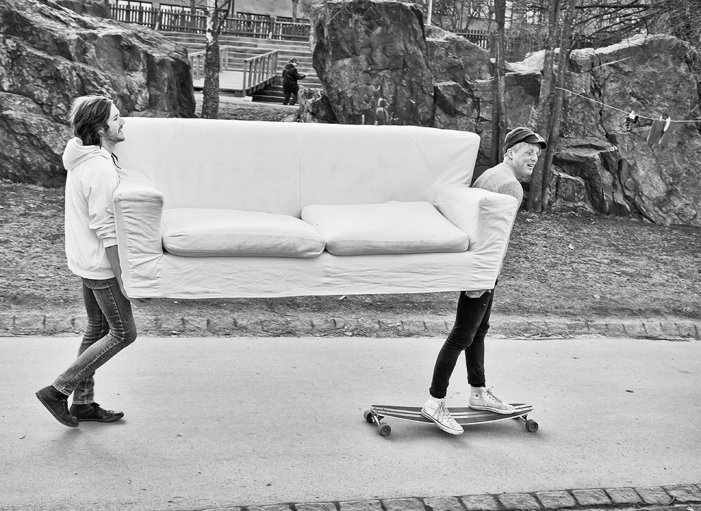Sofa on wheels by sandas04