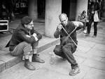 Saw Violin Lesson by sandas04