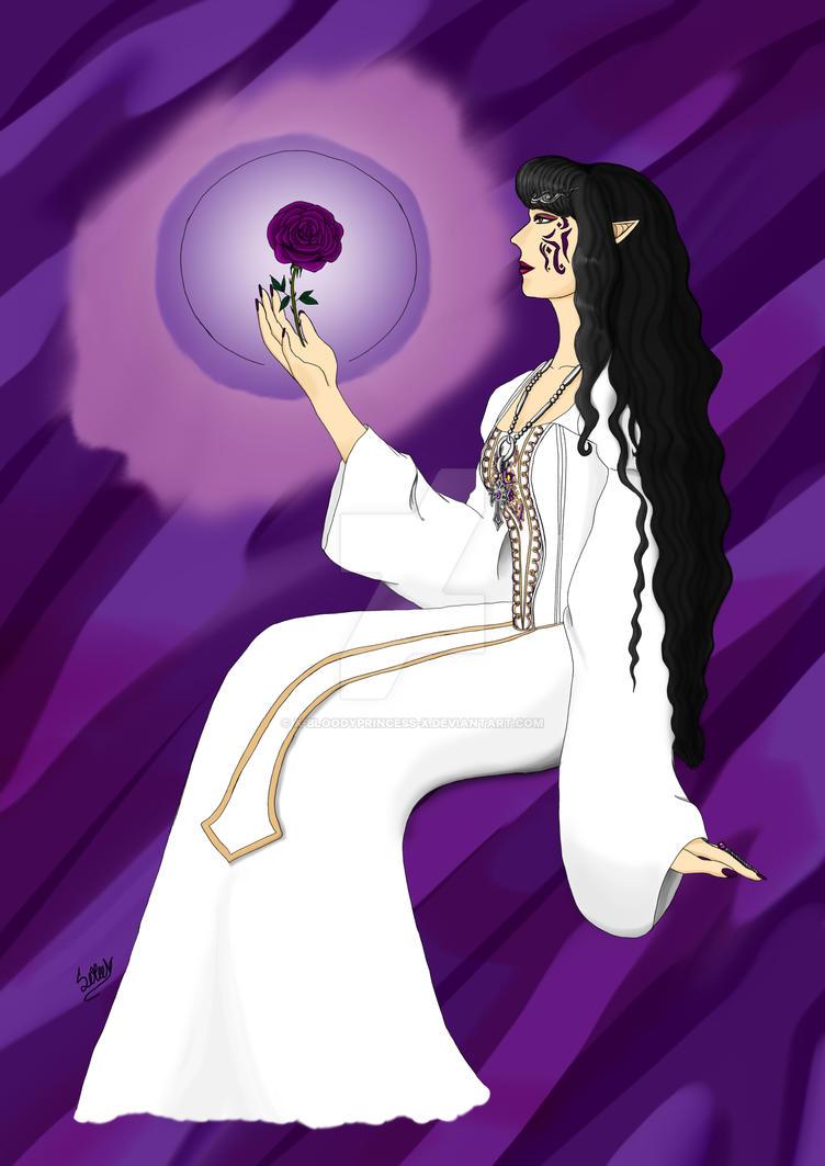 Purple Rose by X-bloodyprincess-X