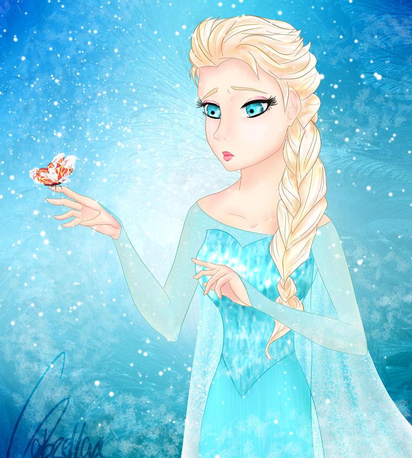 Frozen touch by Gabrellaa