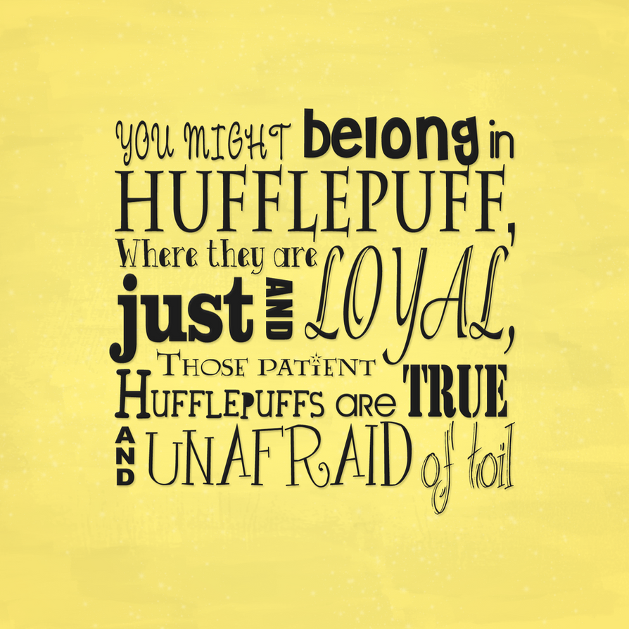 Hufflepuff by Tullerusk