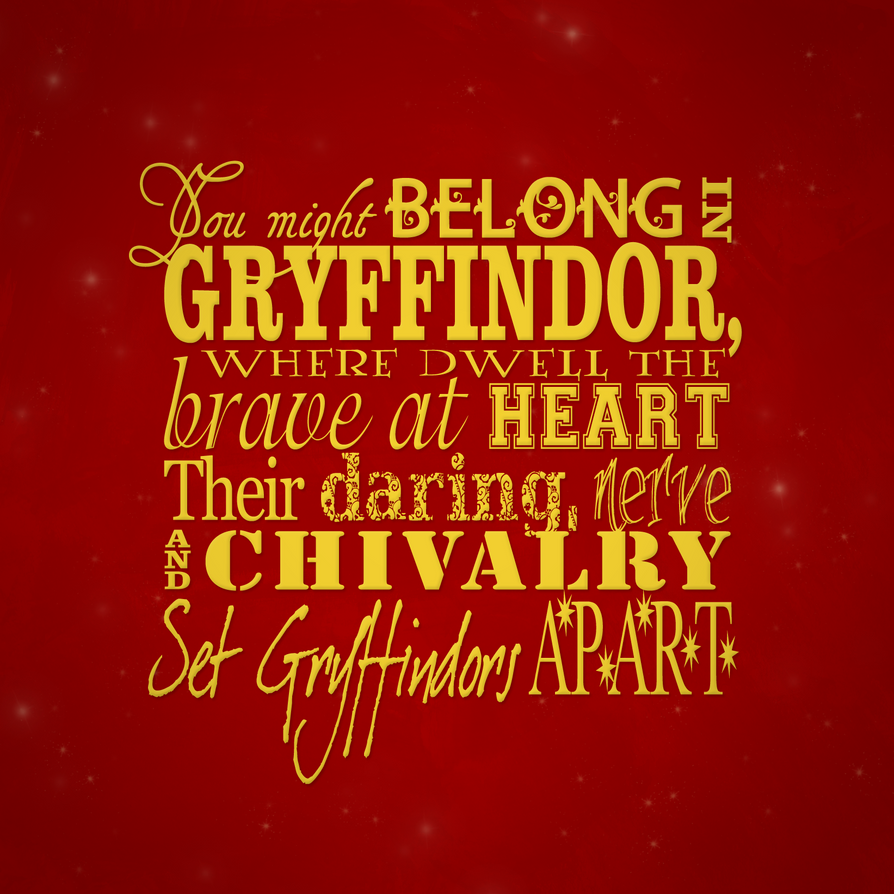 Which Hogwarts How Do You Belong To: Gryffindor By Tullerusk On DeviantArt