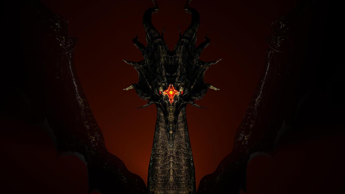 Black Dragon Kalameet by Jupiterjumper2