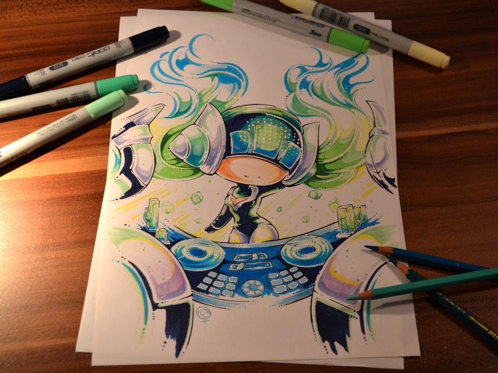 Red DJ Sona Chibi by Lighane on DeviantArt