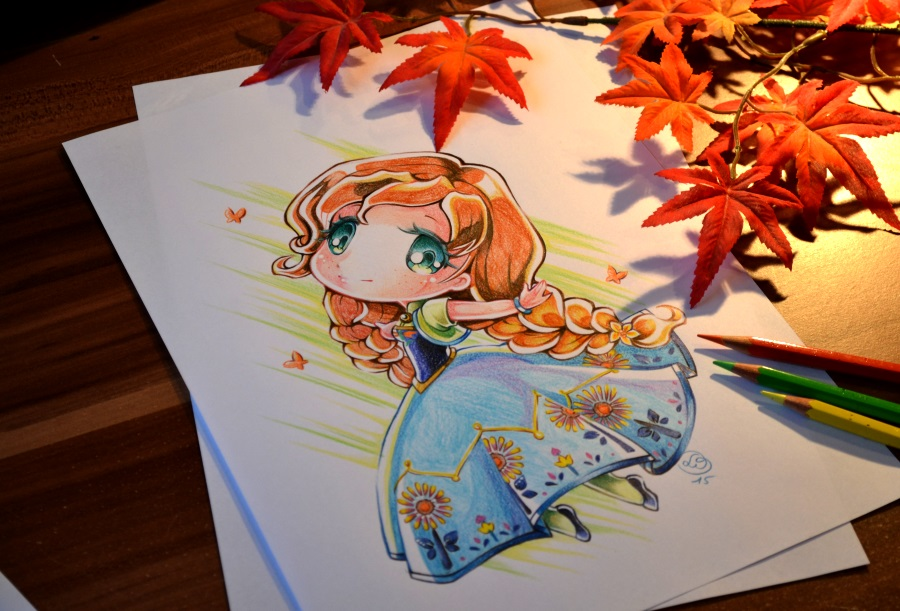 Chibi Anna Frozen Fever By Lighane On Deviantart