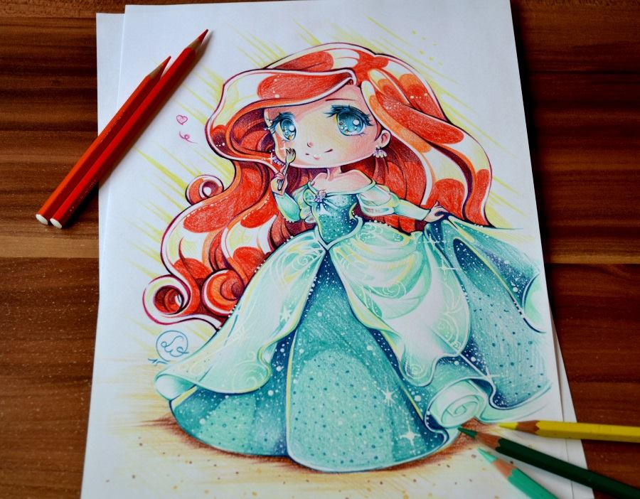 Chibi princess ariel by lighane on deviantart - Dessin anime princesse ariel ...