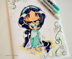 Chibi Princess Jasmine by Lighane