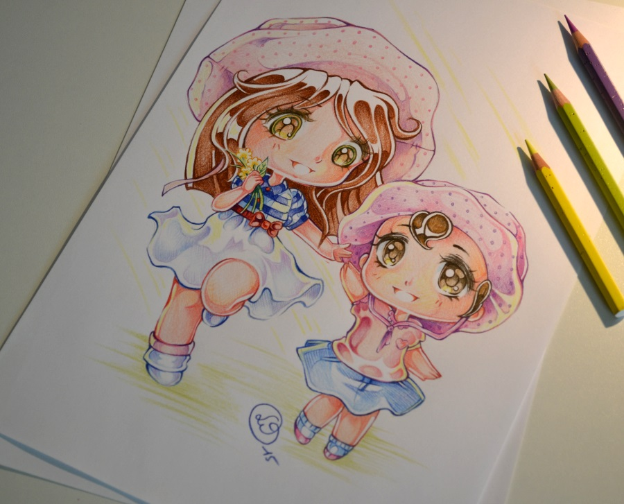how to draw chibi girl in pjs