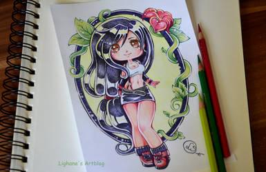 Chibi Tifa Tattoo by Lighane