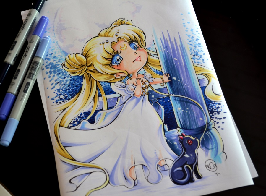 Chibi princess serenity by lighane on deviantart - Comment dessiner peach ...