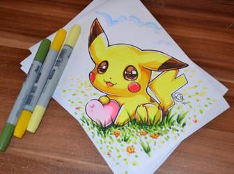 Chibi Pikachu by Lighane