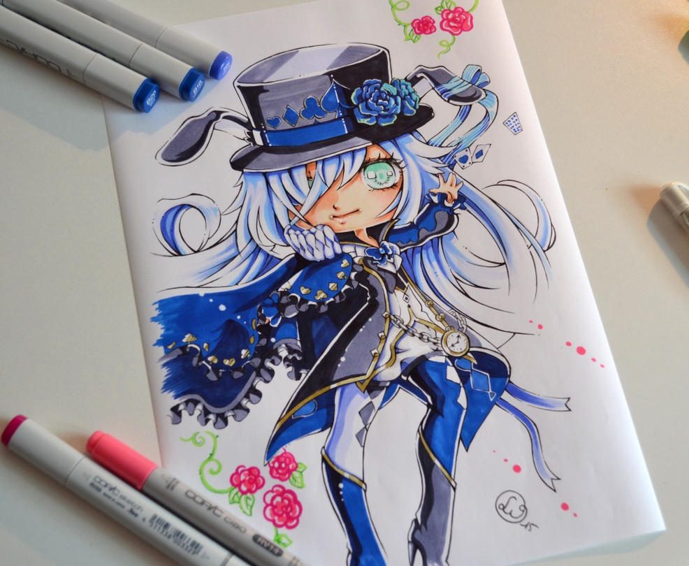 how to draw alice in wonderland mad hatter