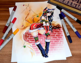 Mistletoe Ahri by Lighane